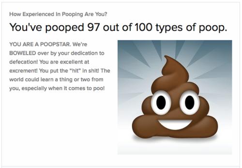 Buzzfeed poop quiz results