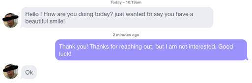 OkCupid nice message