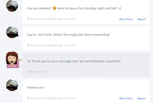 How to reply to message on hookup site
